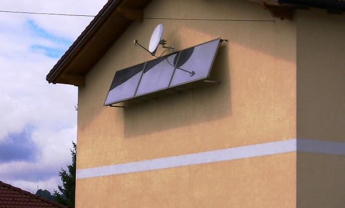 vodoravna postavitev ploščatih sončnih kolektorjev